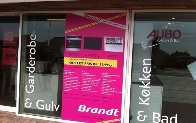 Brandt Hvidevarer udsalgs kampagne vinduesstreamer