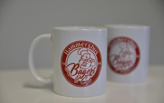 kaffekrus med logotryk og billede