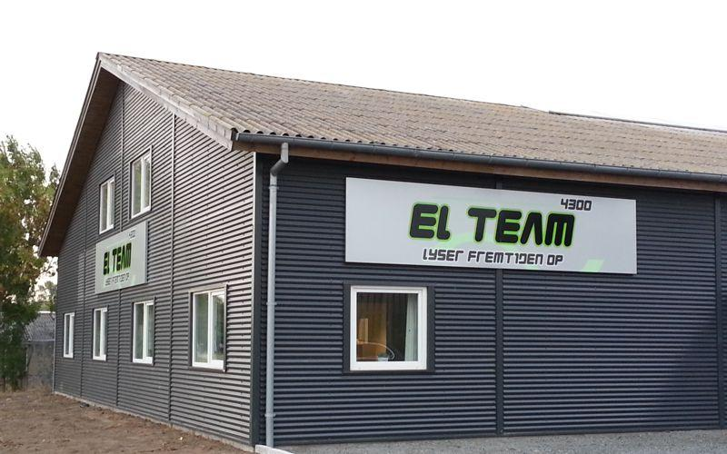alubakke med folie og storformatprint - el team 4300