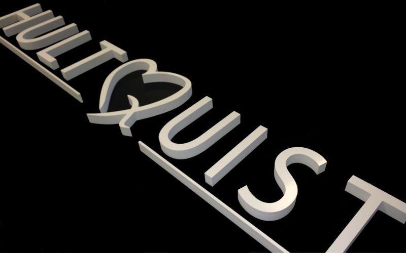 Hultquist logo til messestand