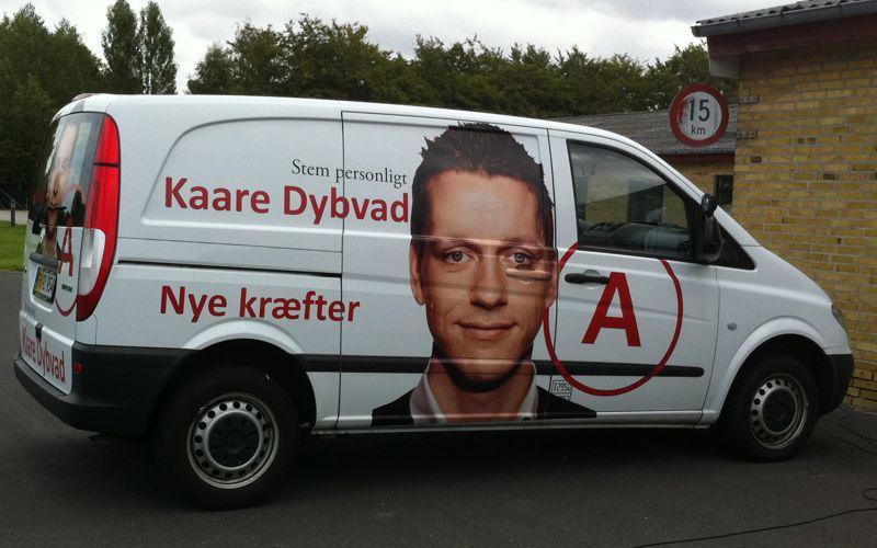 kaare dybvad valgkampagne bildekoration