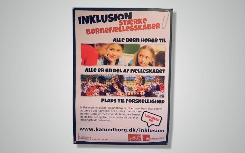 Plakat Inklusion i Kalundborg Kommune