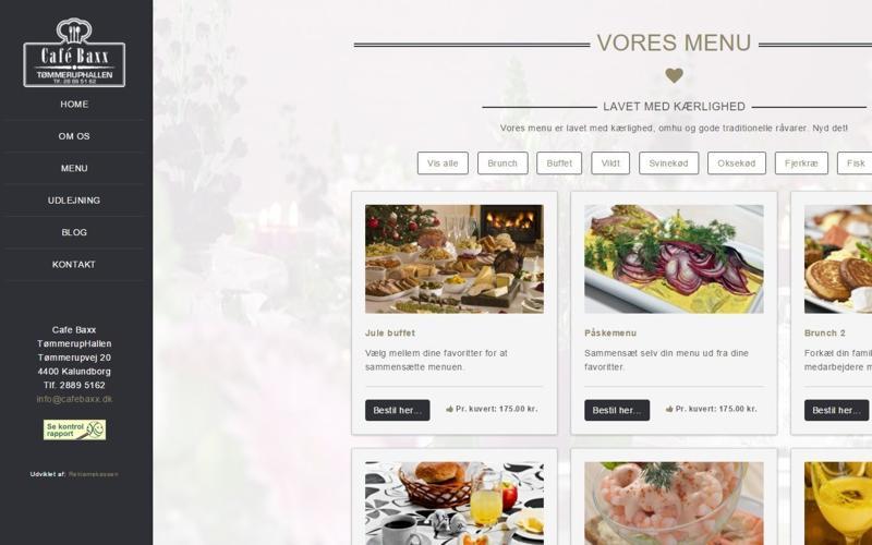 webdesign med menu i venstre side - responsivt mobil venligt design